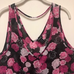 Torrid Pink Floral Blouse